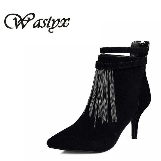 Watyx neue frauen schuhe ... mode high heels Fringe Stiefel dünne ferse ... schuhe 6c58e1