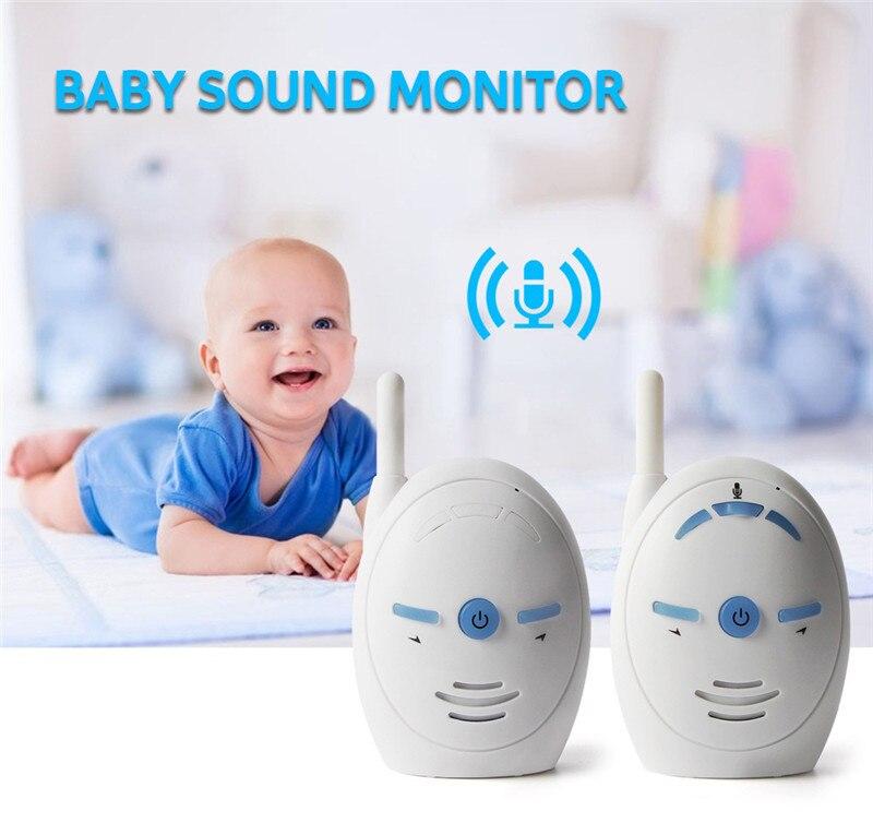 V20 2.4GHz Wireless Infant Baby Monitor Portable Audio Walkie Talkie Kits Baby Phone Alarm Kids Radio Intercoms Nanny Babysitter