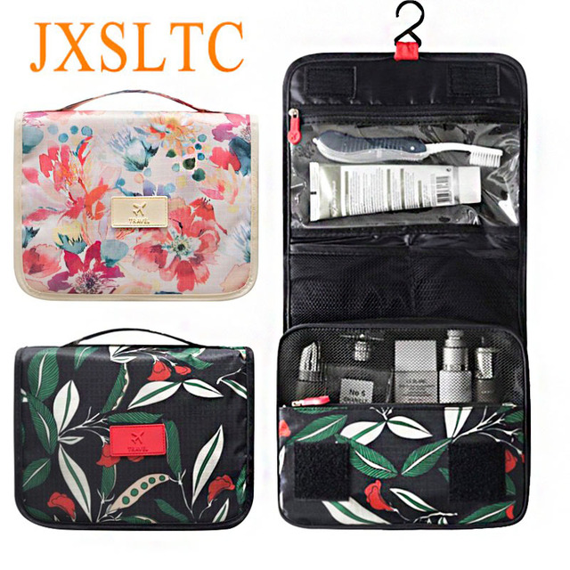 Waterproof Travel Kit Portable Beautician Toiletry Bag Hanging Cosmetic Makeup Organizer Folding Accessories Suitcase