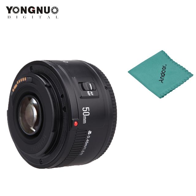 YONGNUO YN50mm F1.8 Lens YN50mm F1.8 II Lens EF 50mm for Canon Large Aperture Auto Focus Lenses For 700D 750D 800D 5D Mark II IV