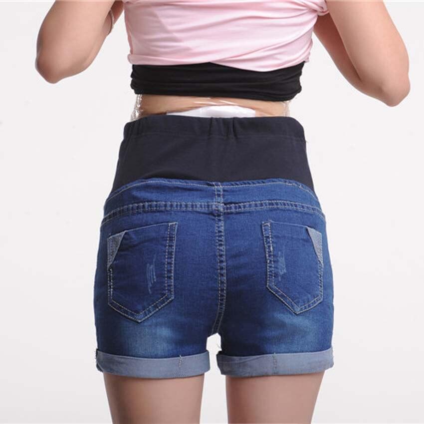 86e43052c2f Maternity Clothes Fashion Summer Denim Maternity Elastic Waist Pregnant  Shorts Jeans for Pregnancy Fashion Belly Shorts-in Shorts from Mother    Kids on ...