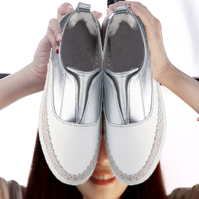 где купить  UBZ  2017 Super Star Shoes  Summer Slip on Flats Fisherman Shoes White Lazy Ladies Loafers Round Head Casual Nonslip Girl Flats  дешево