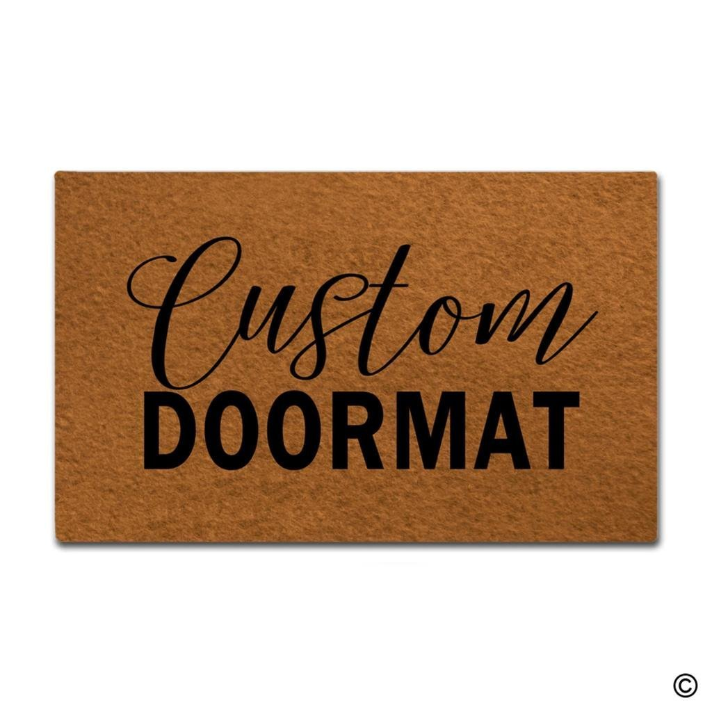 Door Mat Entrance Mat Custom Doormats Funny Entrance Floor Mat Non slip Doormat 18 by 30
