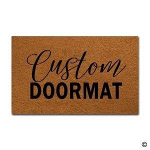 Door Mat Entrance Mat Custom Doormats Funny Entrance Floor Mat Non-slip Doormat 18 by 30 Inch Machine Washable(China)