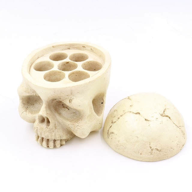 tattoo accessories Skull Head 7 Holes Hard Resin Tattoo Ink Cup/Caps Holder Tattoo Ink Cup Holder Tattoo Accessory Free Shipping