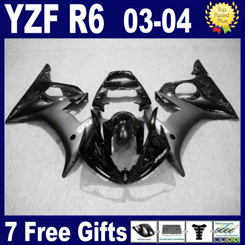 Customize OEM fairing kits For Yamaha YZFR6 03 04 05 full black plastics 2003 2004 2005 YZF R6 R bodywork aftermarket fairings p mfs motor motorcycle part front rear brake discs rotor for yamaha yzf r6 2003 2004 2005 yzfr6 03 04 05 gold