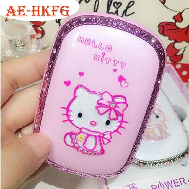 Мультфильм Дизайн Hello Kitty с освещения Power Bank 6000 мАч Портативное Зарядное Устройство Для всех Мобильных Телефонов