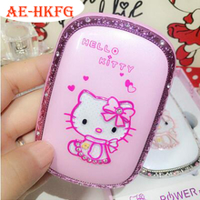 Cartoon Design Hello Kitty with lighting Power Bank 6000mAh Portable Battery Charger  For all Mobile Phone