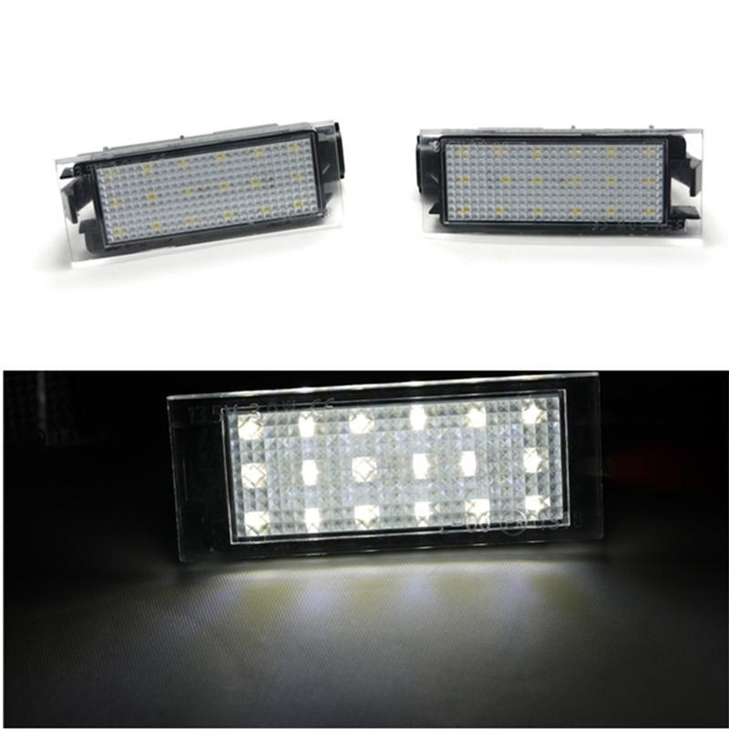 7000k white led car number license plate light kit for renault twingo clio me...