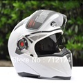 Nuevo casco de la motocicleta motocross racing casco de la cara llena de protección moto moto de doble visera levante calle caballero capacete dot