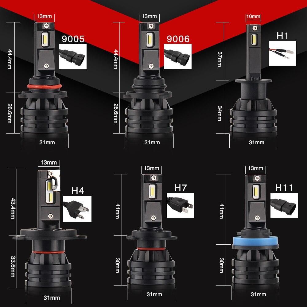 Image 5 - BraveWay светодиодный автомобильные лампочки H4 H7 H8 H9 H11 H1 HB3 HB4 9005 9006 светодиодный фар автомобильная лампа Turbo лампы для автомобиля 12V 24V с can bus-in Передние светодиодные фары для авто from Автомобили и мотоциклы