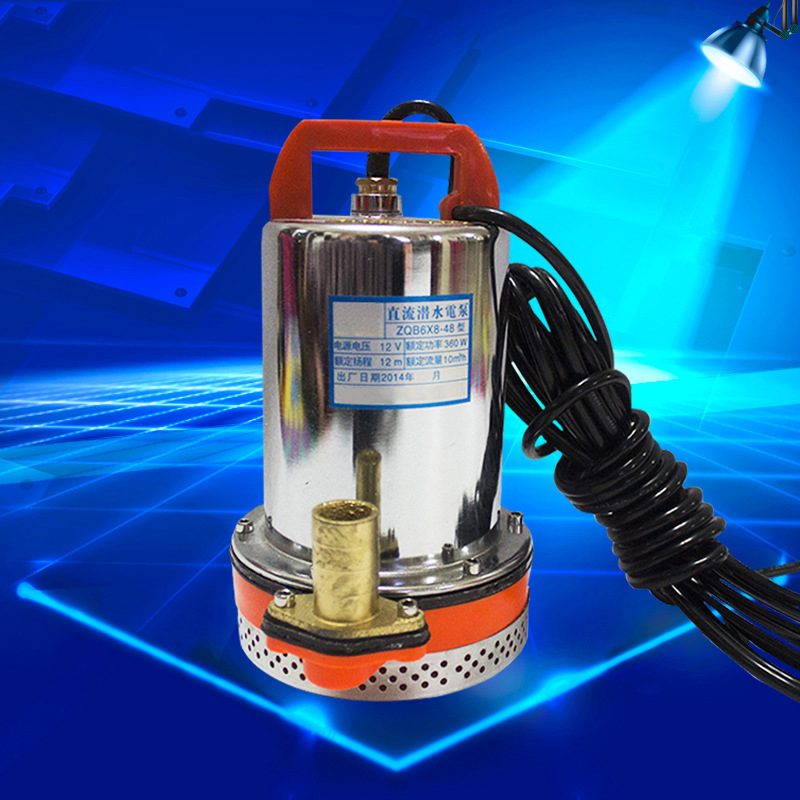 DC 12V Water Pump Submersible Pump Deep Stainless Steel Well Alternative Energy Solar Powered Submersible Pump