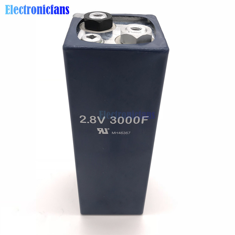 US $15 94 17% OFF|2 8V 3000F 2 8V3000F 158*51mm Super Capacitor  Ultracapacitor Low ESR High Frequency Super Farad Capacitor for Car  Vehicle-in