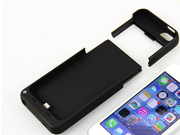 imágenes para 2200 mah para iphone 5 5s cargo clip de ultra-delgada de metal caja del teléfono protector de la cubierta de alimentación de batería externa para apple iphone
