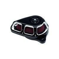Мотоцикл поворотный воздушный фильтр очистки воздуха системы черный и хром для Harley Touring Electra Glide Road Glide 2017 Up Softail 2018