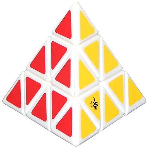 2016 New Dayan Pyraminx Plastic Magic Cube White Children Educational Jigsaw Puzzle Toy Cubo Magico for Speedcubers and Puzzler
