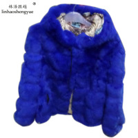 Linhaoshengyue All sorts of color rabbit fur coat