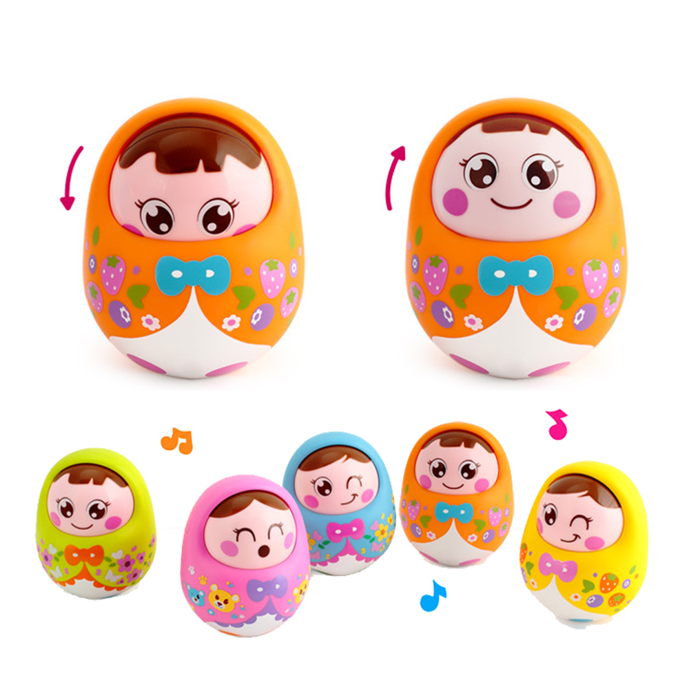 Tumbler Swing Nod Vocal Toys Baby Toys Rattles Doll Sweet Bell Music Toy Hobbies Roly-poly Otamatone Children's Day Gifts