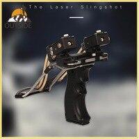 High Quality Laser Slingshot Black Red Hunting slingshot Fishing Catapult Fishing Bow Outdoor Powerful Slingshot Catapult
