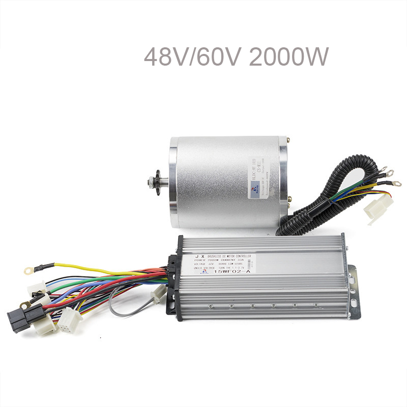 48V <font><b>60V</b></font> <font><b>2000W</b></font> High-Speed bldc Brushless <font><b>Motor</b></font> with Controller For E-scooter Kit e-bike electro Adult Electric Skateboard 4600RPM image