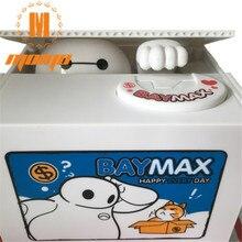 Electric Music Cartoon Animal Baymax Money Box Coin Piggy Bank Stealing for Saving Money Fun Super Popular  Party Favors