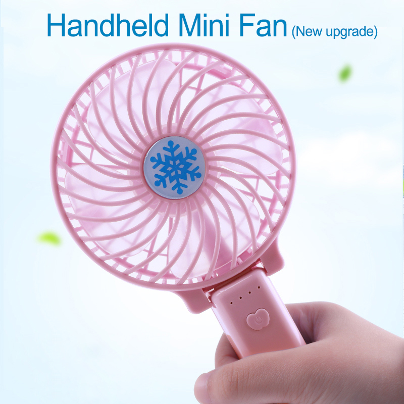 Cep telefonları ve Telekomünikasyon Ürünleri'ten null'de Taşınabilir El Fan USB Şarj Edilebilir Katlanabilir El Mini Fan Soğutucu 3 Hız Ayarlanabilir Soğutma Fanı Açık Seyahat HAVA SOĞUTUCU title=