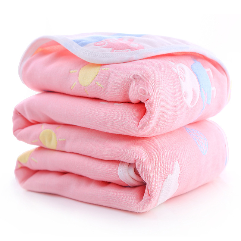Six-layer Cotton Gauze Children Are Covered With Bath Towels, Multi-purpose And Non-fluorescent
