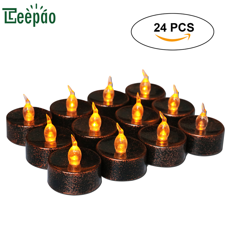24pcs Tea Light Electric Candle LED Safety Vintage Decoration Ambient Light Votive Wedding Party Electric Candles Tealight electric light orchestra electric light orchestra eldorado