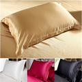 100% Double Face Envelope Silk Pillow Case Silk Pillowcase Camel White Black Silk Satin Pillow Case Multiple Colors, 48*74 cm