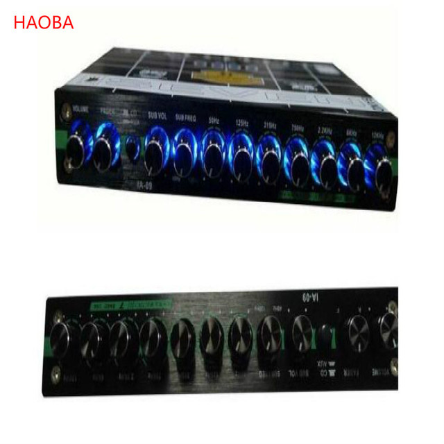 7 Section Eq Car Audio Processor Equalizer For Cars Ecualizador De