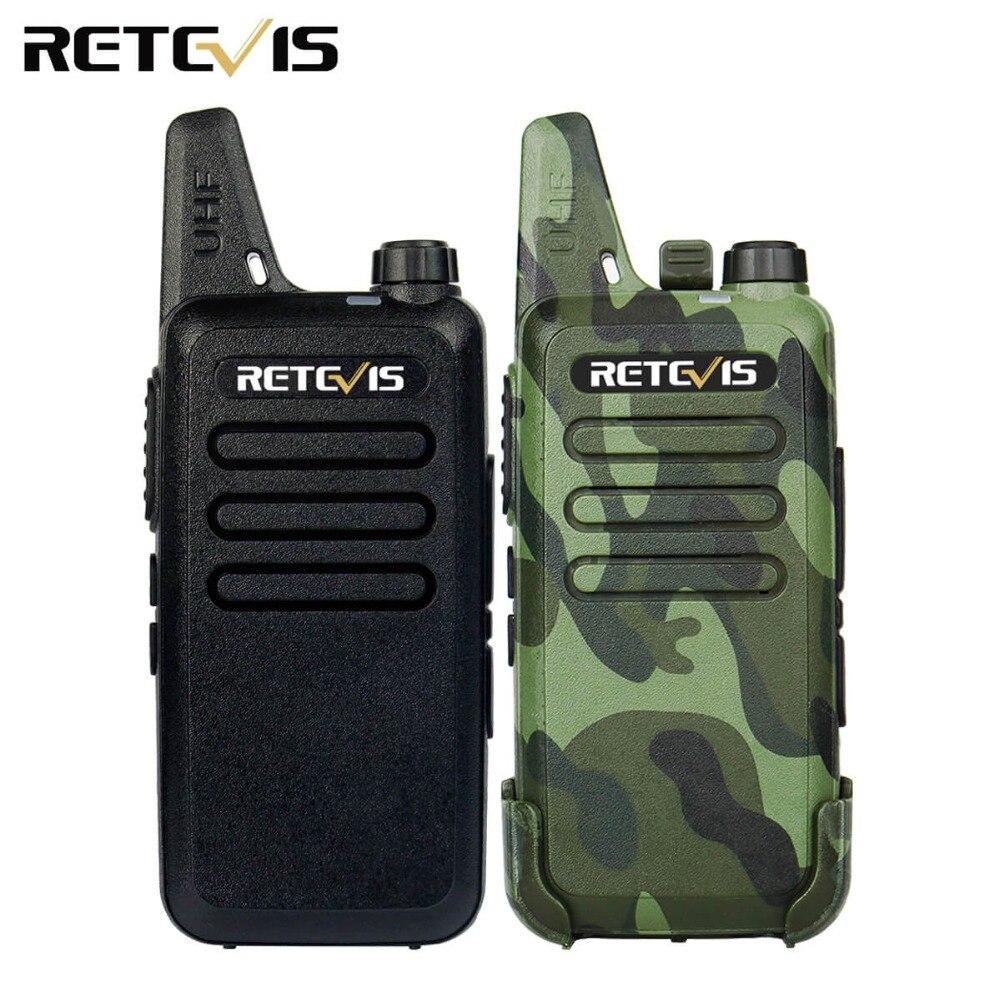 2 stücke Mini Walkie Talkie Retevis RT22 2 Watt UHF 400-480 MHz 16CH CTCSS/DCS TOT VOX Scan Rauschsperre Funkgeräte Communicator A9121A