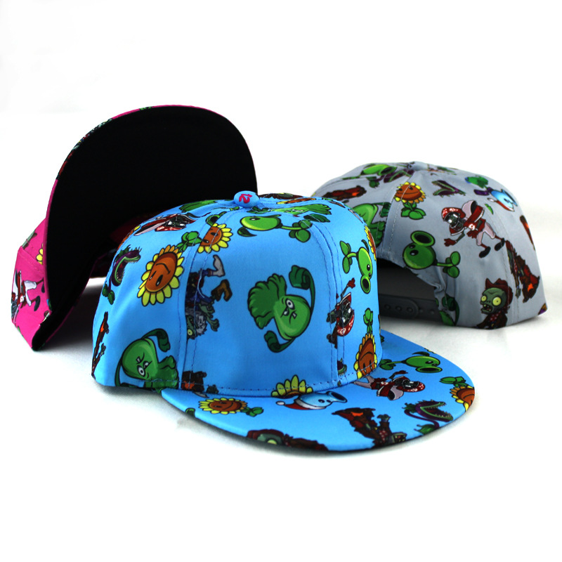 Plants Vs Zombies   Baseball     Caps   Children Spring Summer Sun Flat Hip Hop   Baseball   Hat Best Cool Novelty Hat Women Embroidery