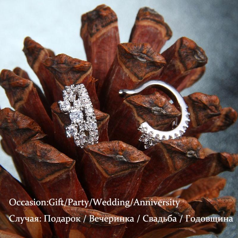 Mode 1ct Cubic Zirconia Anting Klip Pernikahan Anniversary Perhiasan - Perhiasan fashion - Foto 5