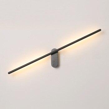 Nouveau Design Moderne Mode LED En Aluminium Rouille Miroir Avant Lumière Salon Chambre Allée Applique Murale Baton Applique Murale