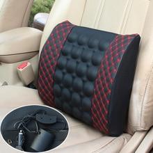 Auto eléctrico de la cintura coche amortiguador trasero del vehículo Del Asiento de Masaje asiento de soporte del amortiguador trasero para inclinarse en la protección de la zona lumbar cus