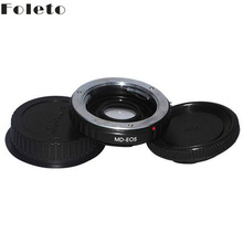 For MD-EOS Mount Adapter Ring Minolta MD MC with glass Lens to for CANON EOS 60D 650D 7D 600D T4 T3 camera LENS CAP