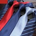 Lazos para Hombre Corbata de Seda Jacquard Tejido de Boda Formal de Negocios Empate 8 cm Raya Clásica Masculina A Cuadros Corbatas Para Hombre Gravata