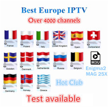 IPTV Europe French IPTV Scandinavian Albania Sweden Arabic Italy Germany 1 year IPTV Hot Club Android SmartTV M3U MAG25X TV Box(China)