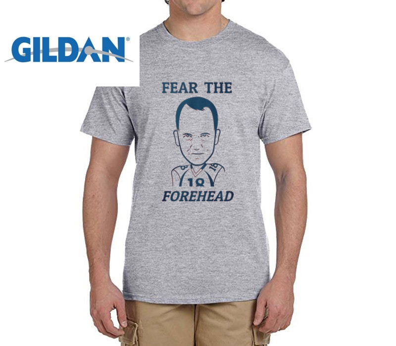 829fa24f0fa GILDAN NEW summerFear the Forehead peyton manning funny t shirts Mens  Number 18 Fashion T shirts for Broncos fans-in T-Shirts from Men s Clothing  on ...