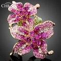 Chapado En Oro de Cristal austriaco Accesorios Joyería Marca Promoción Elegante Imitación de Diamante Clásico Anillos de La Flor Para Las Mujeres