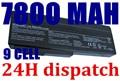 7800 MAH Batería Del Ordenador Portátil para Asus N61 N61J N61V N61VG N61JA N61D N61JV A32 M50 M50s N53 N53S N53SV A32-M50 A32-N61 A32-X64 A33-M50