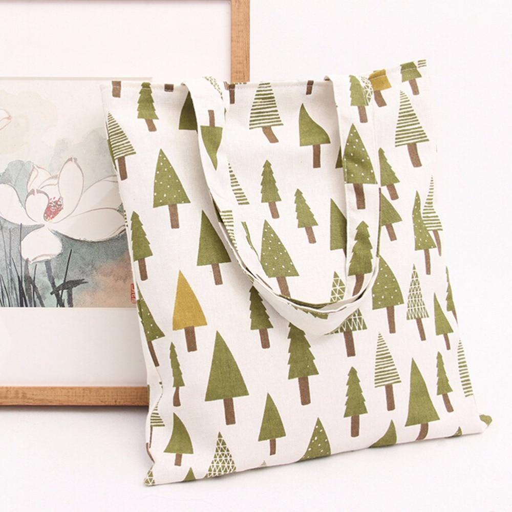 1Pc Canvas Shopping Bag Women's Handbags Tote Bag Shoulder Bags 37*32 Cm