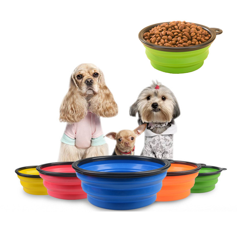 Collapsible Silicone Pet Food Bowl Portable Outdoor Travel Dog Food Container Water Drinking Bowl Dish Pet Feeding Accessories 1