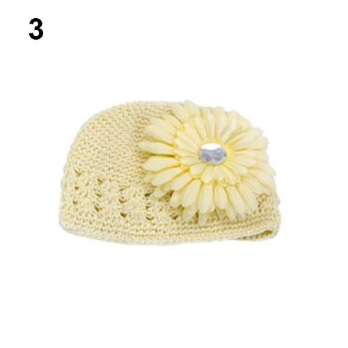 2967816ce65 Lovely Baby Infant Toddler Winter Warm Knitted Crochet Beanie Hat + Daisy  Flower Clip Whol-in Hats   Caps from Mother   Kids on Aliexpress.com