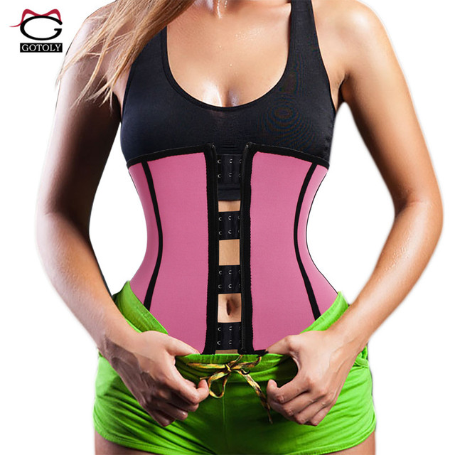 a9e03712a8 Neoprene Waist Trainer Sweat Belt Sauna Modeling Strap hot Body Shaper  Tummy Control Workout Slimming Shapewear Corset for Women