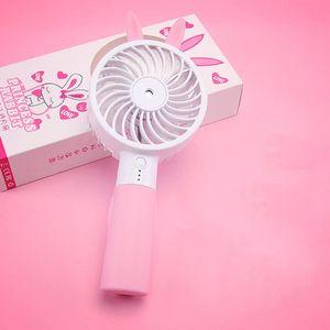 Image 5 - Lindo Oreja de Gato portátil USB recargable refrigerador Mini ventilador de refrigeración práctico escritorio bolsillo agua niebla refrigeración aire humidificador ventilador