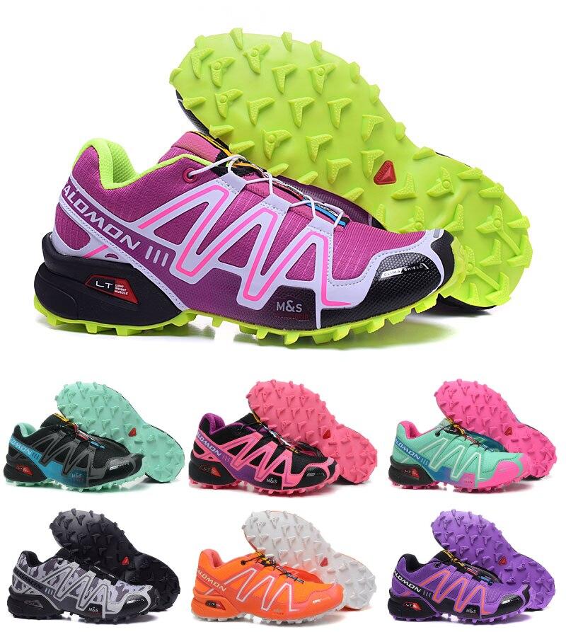 Salomon Speed Cross 3 CS Extérieure Respirant Sneakers Femmes Athlétisme Femelle Air Mesh Jogging Athlétique Sport Chaussures 36- 41
