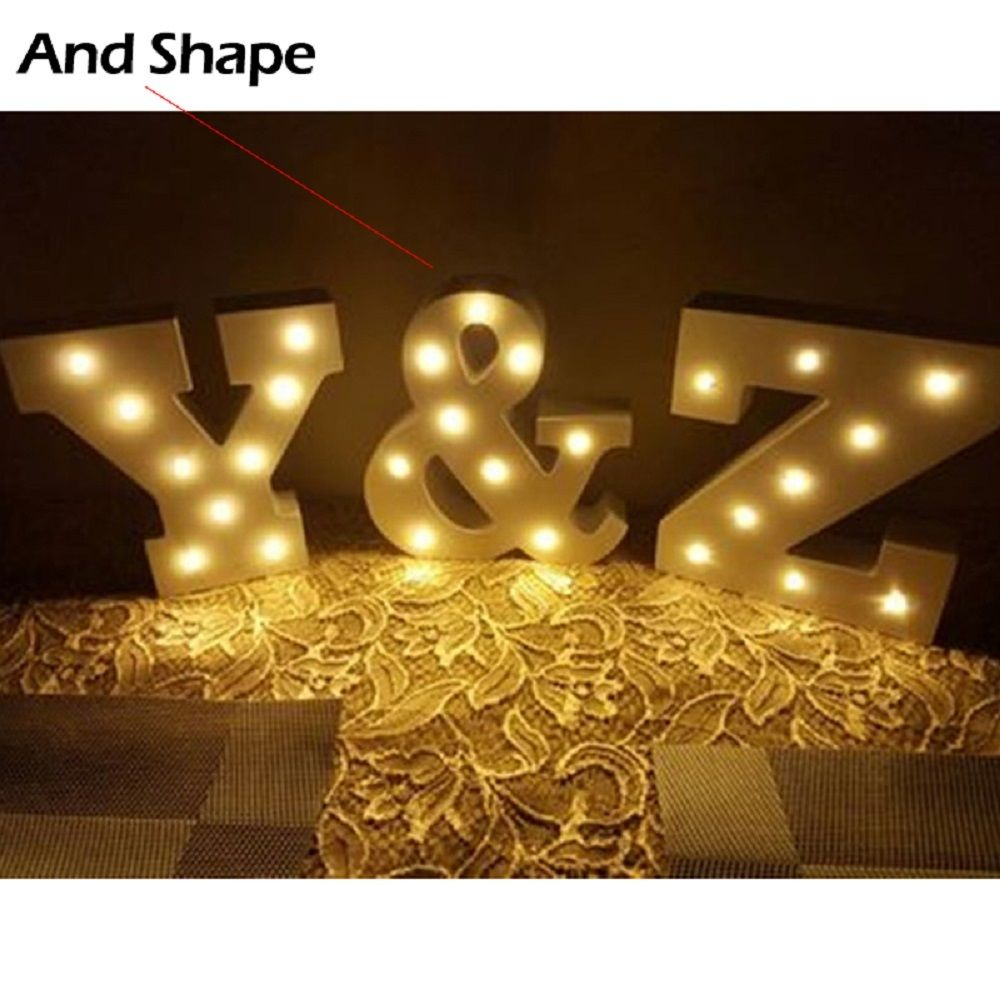 15CM 6'' Wooden Letter LED Marquee Sign Alphabet Light Indoor Wall Night Light Up LOVE Wedding Party Birthday Decoration