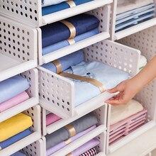 New Hollow Wardrobe Storage Rack Kitchen Box Drawers Design Folding Layered Shelves Plastic Sorting