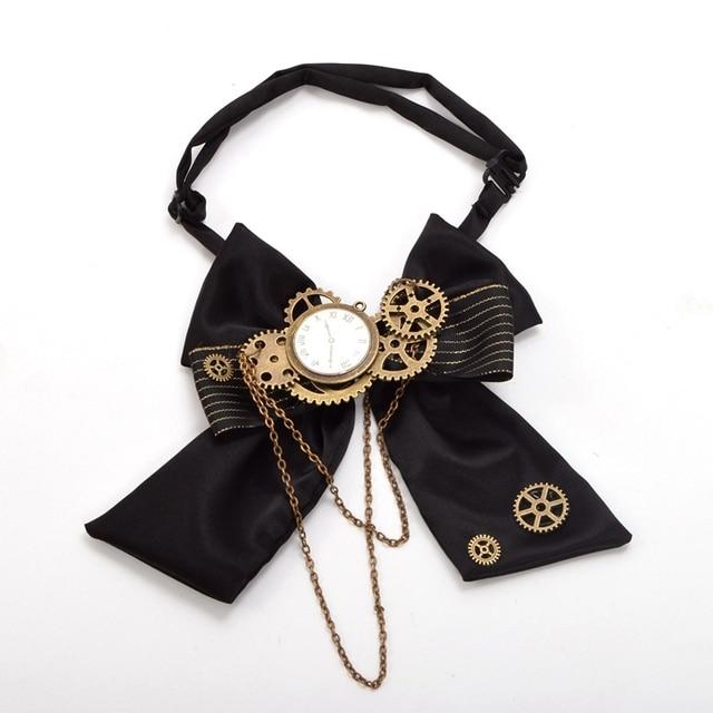 Стимпанк галстук бант с шестеренками 2